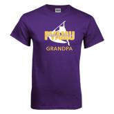 Purple T Shirt-Twirling Thunder Grandpa