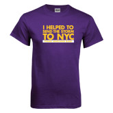 Purple T Shirt-The Storm To NYC Stacked