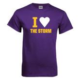 Purple T Shirt-I Heart The Storm