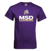 Purple T Shirt-MSD w/ PVAM Logo