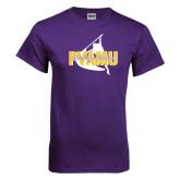 Purple T Shirt-PVAMU Twirling Thunder Logo