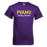 Purple T Shirt-PVAMU Twirling Thunder Script