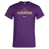 Purple T Shirt-2018 Mens Golf Champions