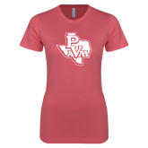 Next Level Ladies SoftStyle Junior Fitted Pink Tee-PVAM Texas