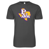 Next Level SoftStyle Charcoal T Shirt-PVAM Texas