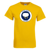 Gold T Shirt-Marching Storm Cloud Circle