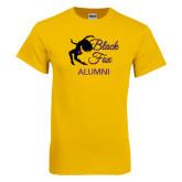 Gold T Shirt-Black Fox Alumni