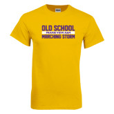 Gold T Shirt-Old School Marching Storm Stacked