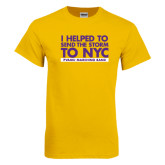 Gold T Shirt-The Storm To NYC Stacked