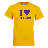 Gold T Shirt-I Heart The Storm