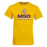 Gold T Shirt-MSD w/ PVAM Logo