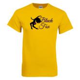 Gold T Shirt-Black Fox Logo