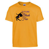 Youth Gold T Shirt-Future Black Fox