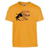 Youth Gold T Shirt-Future Black Fox