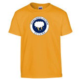 Youth Gold T Shirt-Marching Storm Cloud Circle - Future