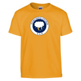 Youth Gold T Shirt-Marching Storm Cloud Circle - Fan