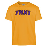 Youth Gold T Shirt-Arched PVAMU