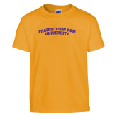 Youth Gold T Shirt-Arched Prairie View A&M