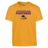 Youth Gold T Shirt-Stacked Prairie View A&M Panthers