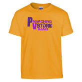 Youth Gold T Shirt-PV Marching Storm Band