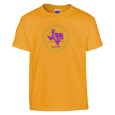 Youth Gold T Shirt-PVAM Marching Band Seal
