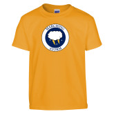 Youth Gold T Shirt-Marching Storm Cloud Circle