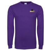 Purple Long Sleeve T Shirt-Official Logo