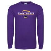 Purple Long Sleeve T Shirt-Baseball Design
