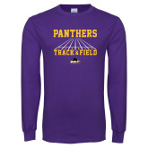 Purple Long Sleeve T Shirt-Track & Field Design