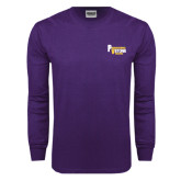 Purple Long Sleeve T Shirt-PV Marching Storm Band
