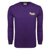 Purple Long Sleeve T Shirt-PV Marching Storm Band