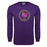 Purple Long Sleeve T Shirt-PVAM Marching Band Seal