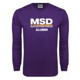 Purple Long Sleeve T Shirt-MSD Alumni