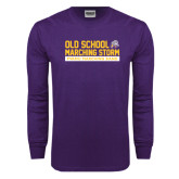 Purple Long Sleeve T Shirt-Old School w/ Cloud