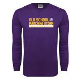 Purple Long Sleeve T Shirt-Old School w/ Cloud