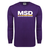 Purple Long Sleeve T Shirt-MSD