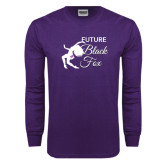 Purple Long Sleeve T Shirt-Future Black Fox