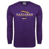 Purple Long Sleeve T Shirt-Softball Design