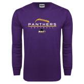 Purple Long Sleeve T Shirt-Softball Design