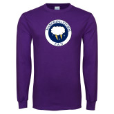 Purple Long Sleeve T Shirt-Marching Storm Cloud Circle - Fan