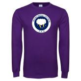 Purple Long Sleeve T Shirt-Marching Storm Cloud Circle - Fan