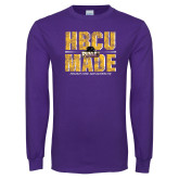 Purple Long Sleeve T Shirt-HBCU MADE