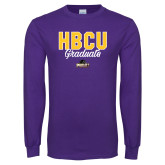 Purple Long Sleeve T Shirt-HBCU Graduate