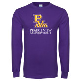 Purple Long Sleeve T Shirt-PVAM Stacked