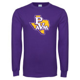 Purple Long Sleeve T Shirt-PVAM Texas