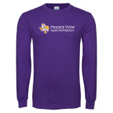 Purple Long Sleeve T Shirt-PVAM Texas Flat