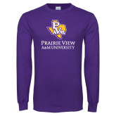 Purple Long Sleeve T Shirt-PVAM Texas Stacked