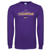 Purple Long Sleeve T Shirt-2018 Mens Golf Champions