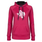 Ladies Pink Raspberry Tech Fleece Hoodie-PVAM Texas