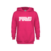 Youth Raspberry Fleece Hood-PVAMU
